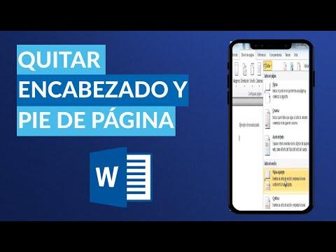 Cómo QUITAR el Encabezado y el Pie de Página en Word - Fácil y Rápido