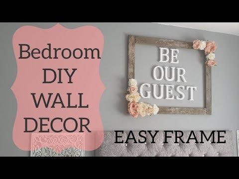 Bedroom DIY wall decor SUPER EASY