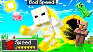 Playing MINECRAFT As GODSPEED! (Speedsters)