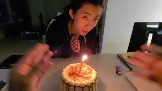老公視角 老婆一個人唱生日快樂歌!幫我過生日!