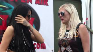 Sharon Ehman interview at Bloodstock Open Air 2013