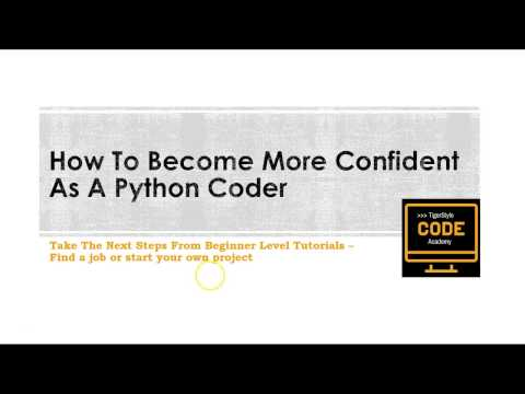 How to become a more confident python coder