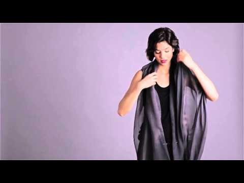 How To Tie A Scarf: EILEEN FISHER Tips -- Fall 2014