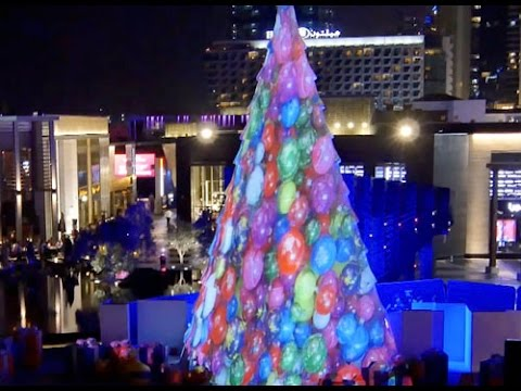 Christmas Tree 3d MAPPING + INTERACTIVE Ipad (Dubai UAE)