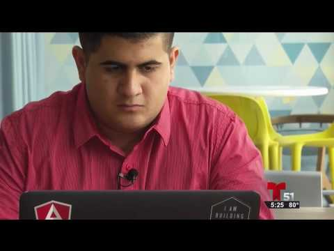 WSCV-TV/Miami – 6/8/17 interview with Uber/Ironhack scholarship winner Ivan Jorge