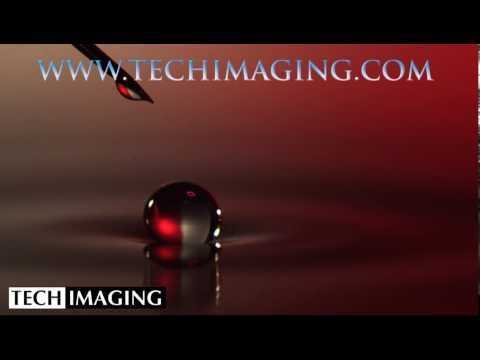 High Speed Camera Video - Water drop bouncing on water