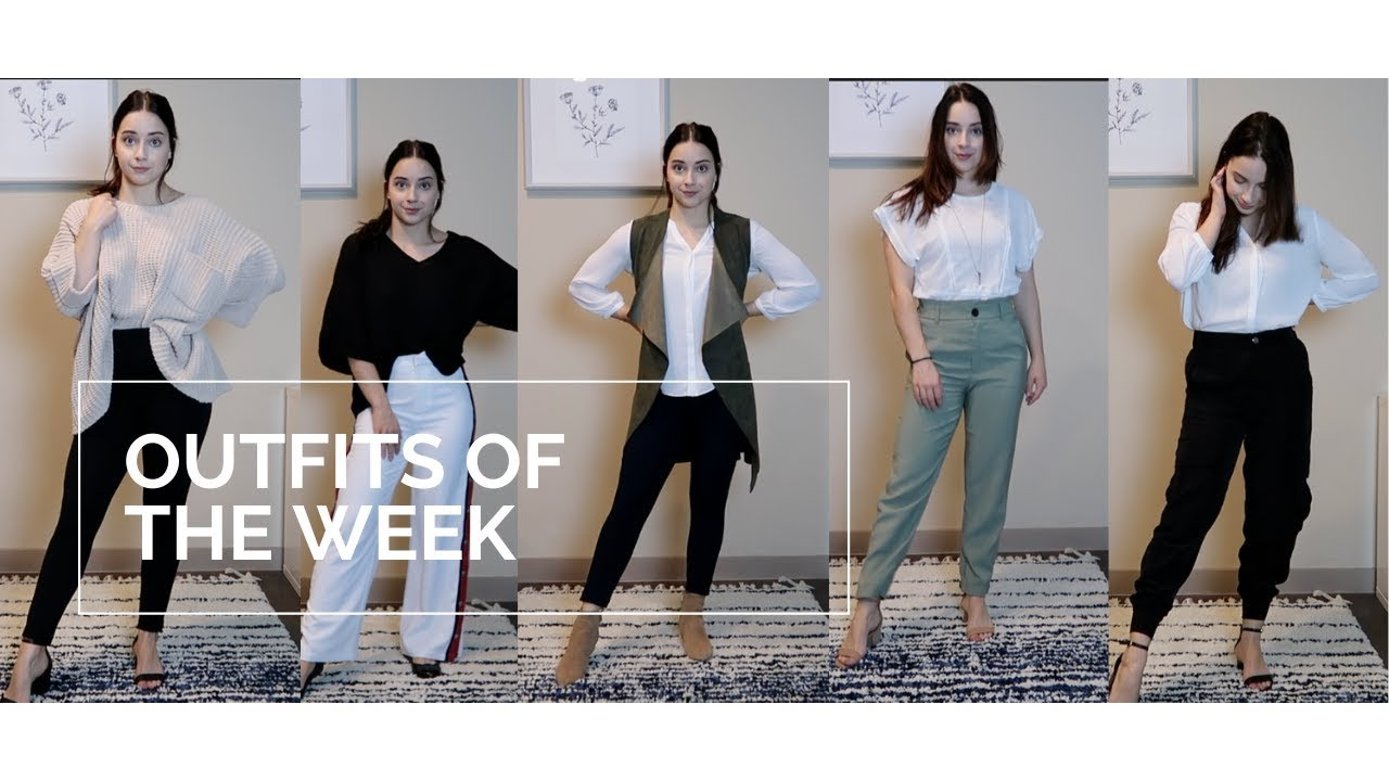 [VIDEO] - Outfits Of The Week | Simple Business Casual Outfits 8