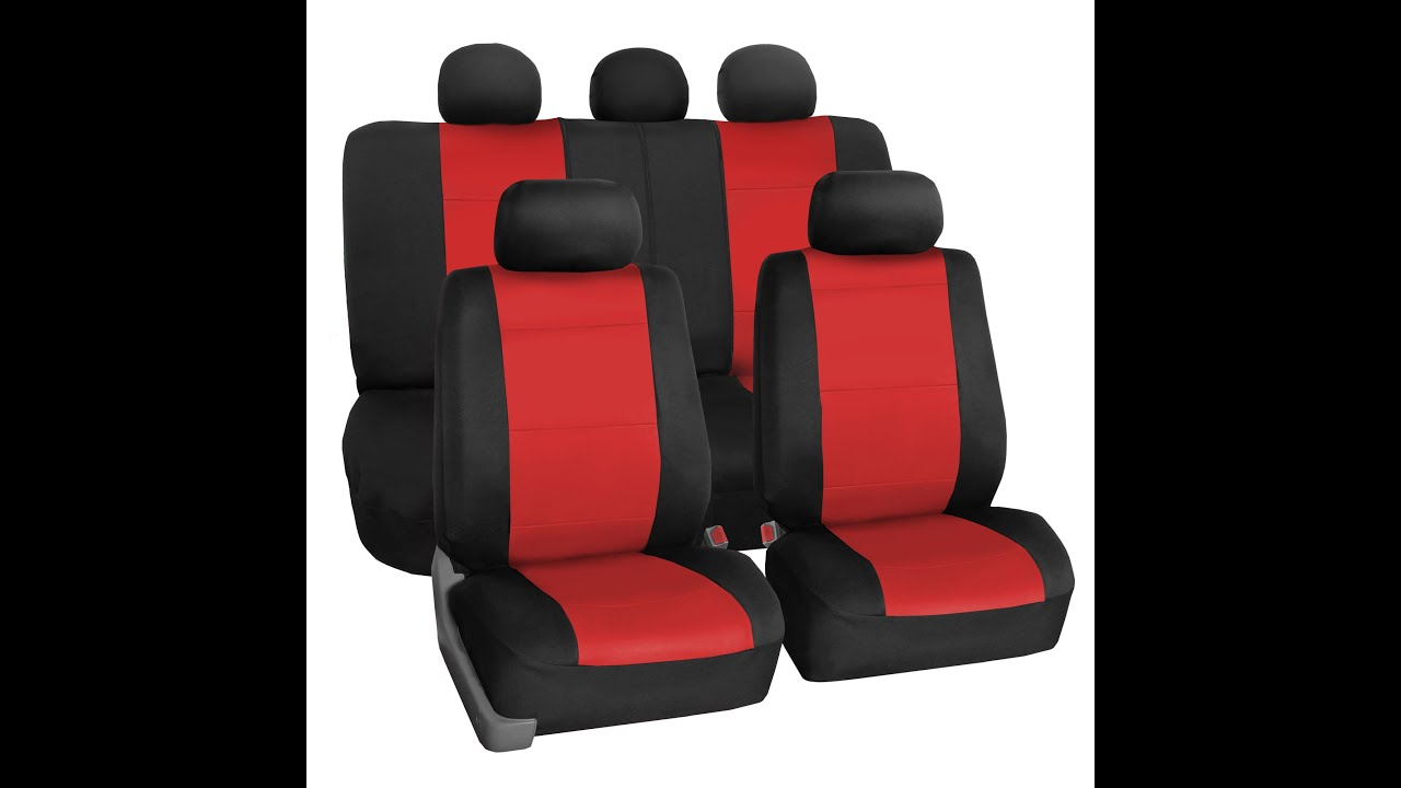 Neoprene Seat Covers Full Set FH Group Auto R