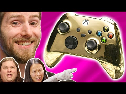 My wife HATES it – LMG Reacts to Gold Xbox Controller