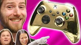 My wife HATES it - LMG Reacts to Gold Xbox Controller