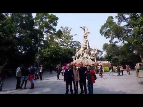 The famous Five Goat Statue Yuexiu Park Guangzhou