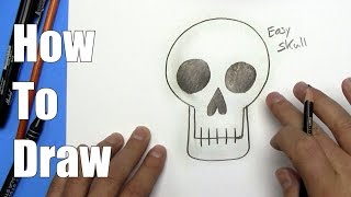 How To Draw an Easy Skull - Step By Step