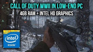 How to play Call of Duty WWII in 4gb RAM | Run COD WWII in low-end PC - Play in 60FPS