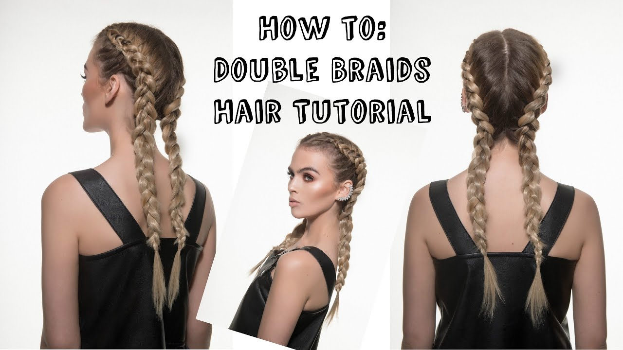 How To Kylie Jenner Inspired Double Braids Hair Rehab London