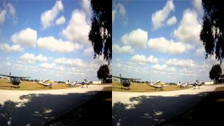 Flight to the Winter Haven Florida Flyin KGIF in 3D 720p