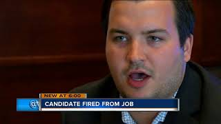 State treasurer candidate fired from job for refusing to drop out of race