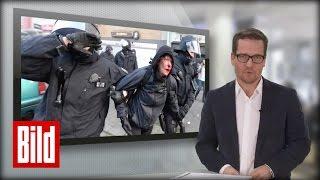 BILD UPDATE: So wurden die Polizisten in Frankfurt bei EZB-Demo angegriffen (Blockupy)