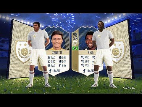 PRIME 98 PELE SBC, PRIME 92 ZANETTI SBC !! - FIFA 18 Icon SBC's
