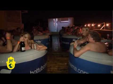 New 'Hot Tub Cinema' in London's East End: Watch Films, Movies from Public Hot Tubs