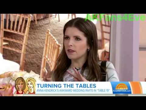 "Anna Kendrick talks about receptions at weddings-""Table 19"" Today Show Interview"