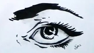 How to Draw Cartoon Eye Easy Drawing   YZArts   YZArts