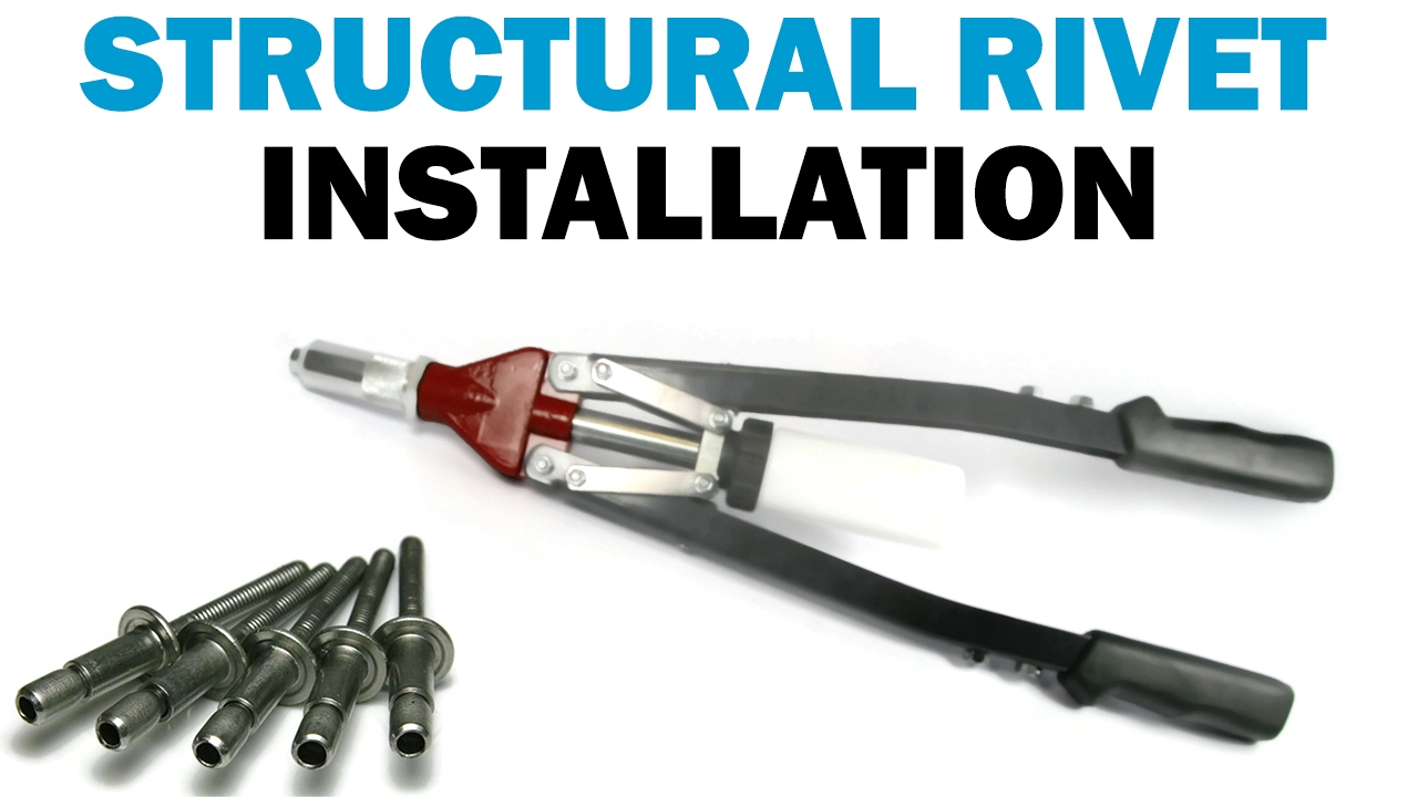 Using A Rivet Tool : How to use a lever rivet tool install rivets faste