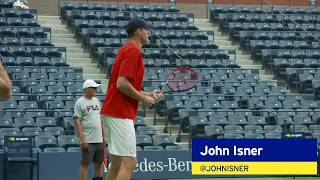 John Isner Prepares For His QF Match at the 2018 US Open