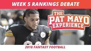 2018 Fantasy Football — Week 5 Rankings, Starts, Sits, Sleepers and Busts