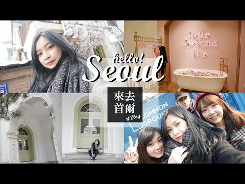 2017 Jan. Seoul Vlog|跟我一起玩首爾看雪吧!|夢露 MONROE