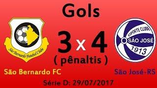 Baixar Série D: 29/07/2017 Gols da decisão dos pênaltis São Bernardo 3 x 4 São José-RS