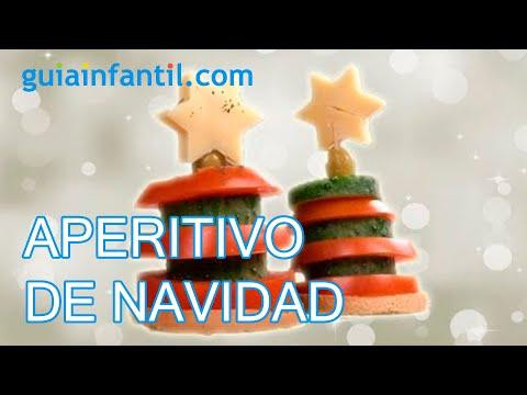 Aperitivo de rbol de navidad canap s para ni os youtube for Canape para navidad