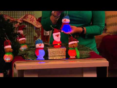 Bethlehem Lights S/3 Battery Op. Christmas Buddy Ornaments with Gabrielle Kerr