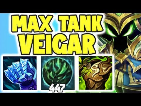 WTF! MAX TANK VEIGAR = OVER 1200 AP??? MAX AP TANK VEIGAR STRATEGY! - League of Legends Gameplay