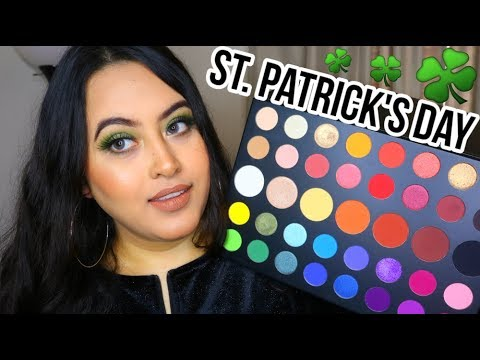 ST. PATRICK'S DAY 2019 GLAM MAKEUP! | Ft. James Charles Artistry Palette thumbnail