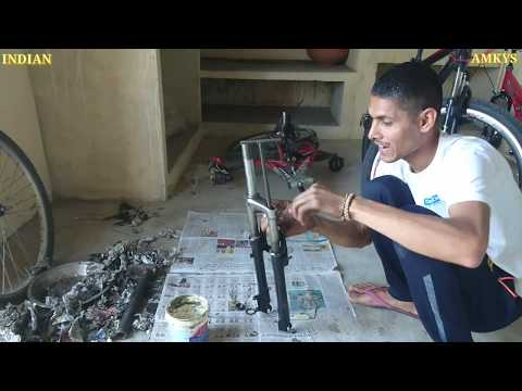 How To Repair Cycle Front Suspension Shocker & Install MTB Suspension Fork in [Hindi] INDIAN AMKYS