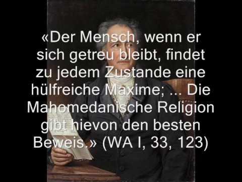 Goethe Und Der Islam Youtube