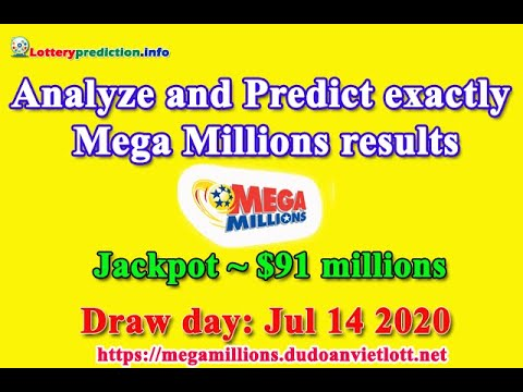 Megamillions Predictions For Today 14 July 2020   Jackpot ~ $91 Millions