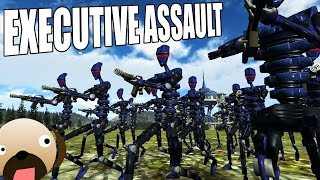 Robot Assault! FPS RTS Real Time Strategy Game - Executive Assault Gameplay