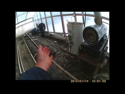 видео: отопление в теплице - тепловая пушка первый запуск