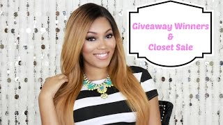 {ANNOUNCEMENT} Giveaway Winners & Closet Sale Thumbnail