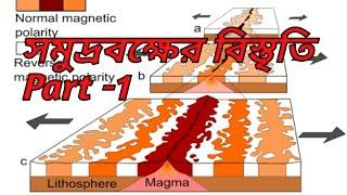 Geography for class 11 in bengali,,sea floor spreading,সমুদ্রবক্ষের বিস্তৃতি মতবাদ ১৯৬০ ৷