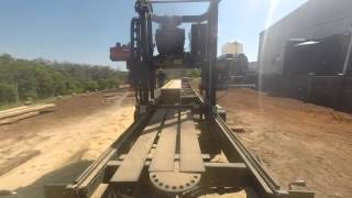Milling Tallow Wood With Timberking 2000 Mobile Bandsaw