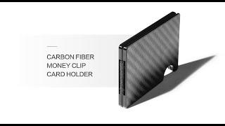 Teemzone Carbon Fiber Money Clip/ Minimalist Wallet/Credit Card Holder 2020/ RFID Blocker