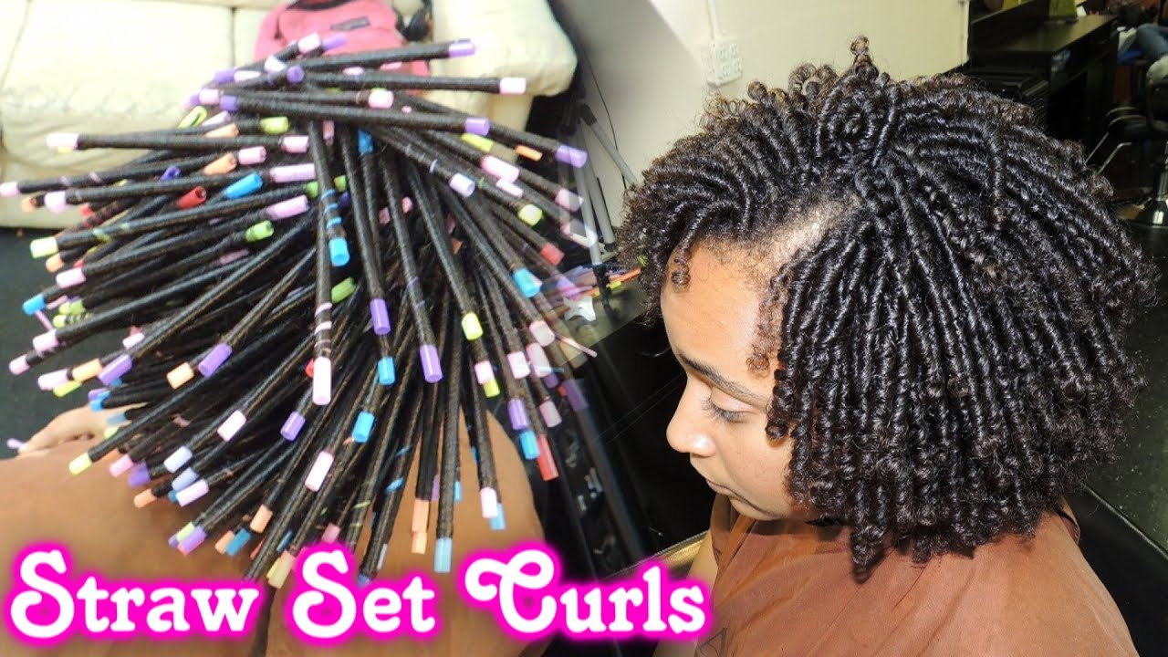 561 Straw Set On Natural Hair Style Demo
