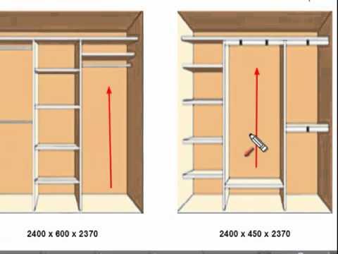 видео: Внутреннее строение шкафа-купе