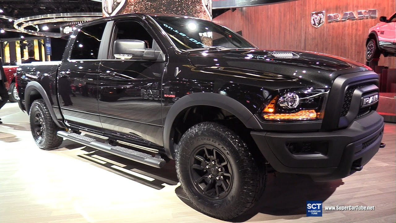 2017 Dodge Ram 1500 Rebel Black Edition Exterior And Interior Walkaround Detroit Auto Show