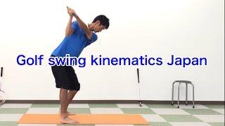 Dustin Johnson's secrets of swing / shut and open [Golf Swing Kinematics Japan]