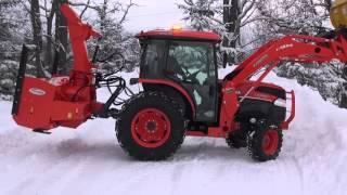 Kubota L 5740 Plowing & Blowing Snow