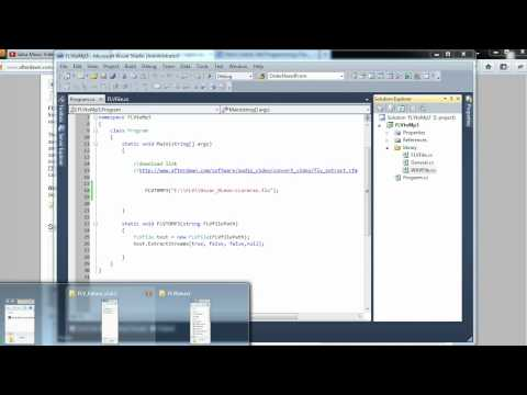 How to extract  audio from FLV to MP3 with C#