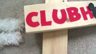 DIY - Mickey Mouse CLUBHOUSE Wood Post Sign